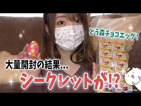 どうぶつの森のチョコエッグ大量に買ってみたら…シークレットが出た!!!?????(くるみ)