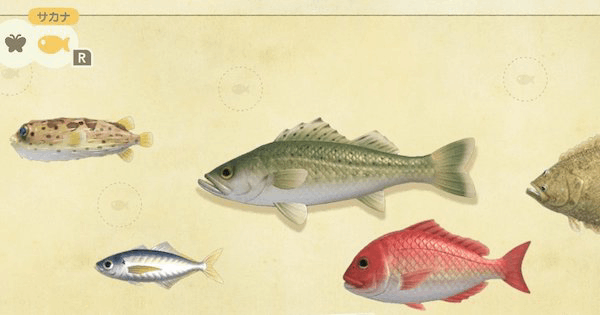 【あつ森】3月までの魚、みんなはもう釣れた?北半球と南半球で獲れる魚が違うので注意!【どうぶつの森 まとめ】(どうぶつの森まとめ速報)