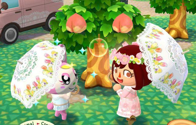 【ポケ森】やっと傘が実装!マーガレットのクッキーがかわいすぎる~(どうぶつの森まとめ速報)