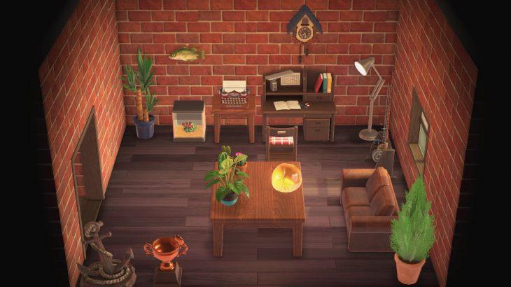 【どうぶつの森】焦げ茶の家具詰め込んでいっただけの部屋だけど良い…【再掲】(色んなまとめ)