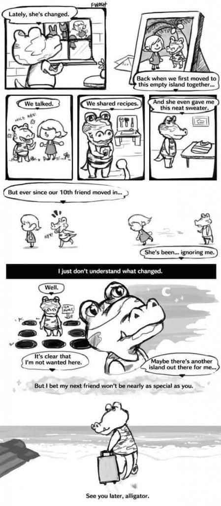 【どうぶつの森】海外勢が描いたハイドの悲しい漫画(色んなまとめ)