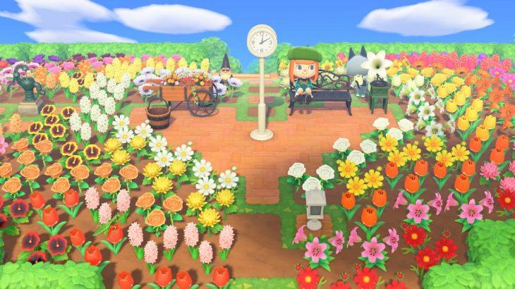 【あつ森】ハート型のグラデーション花畑【良センス】(色んなまとめ)