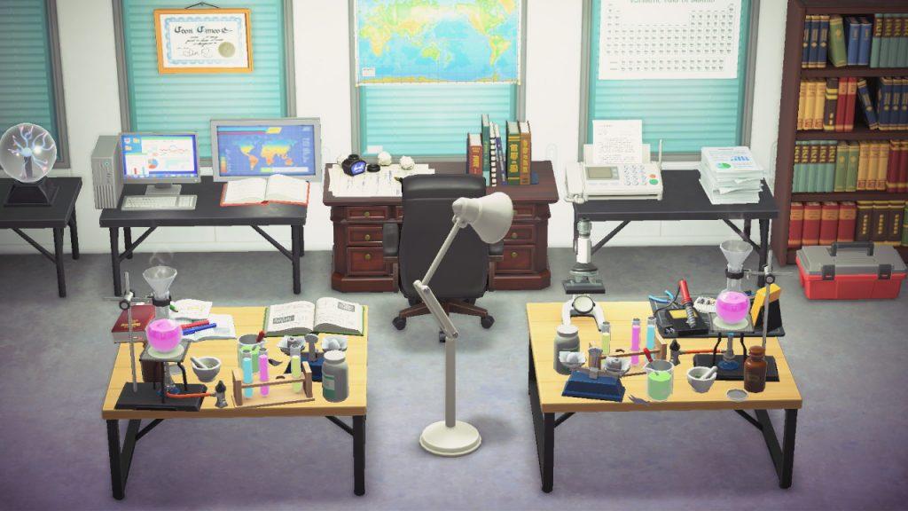 【あつ森】理科室みたいな部屋を作ってみました(色んなまとめ)