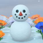 【あつ森】雪だるまって9×9マスの空き地を4体分確保してないとダメ?【南半球】(色んなまとめ)