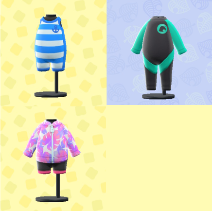 【あつ森】マリンスーツの柄は島固定?商店とマイルと通販の3種類買える模様(色んなまとめ)