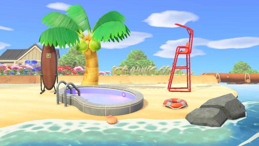 【あつ森】夏に生やしまくったヤシの木やらビーチボールやらプールってみんなどうしてる?(色んなまとめ)