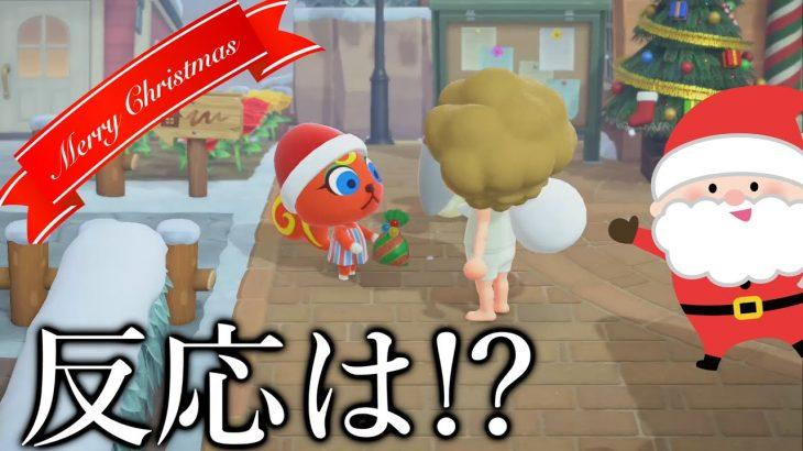 【あつ森】何も着てないサンタからのプレゼントはどういう反応になるのか!?【あつまれどうぶつの森】