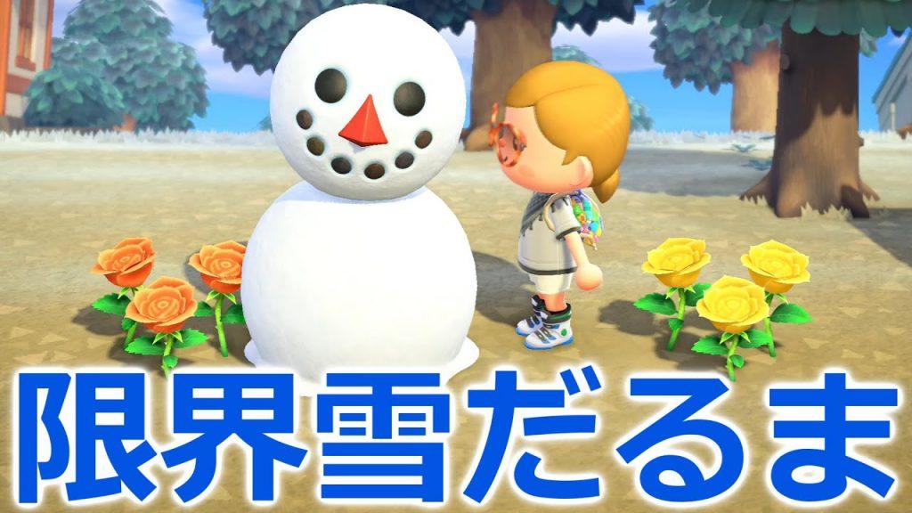 【あつ森サブ】え!?雪が解けたのに雪だるまが存在している!?!?【あつまれどうぶつの森】
